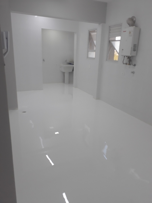 Onde Encontro Revestimento Porcelanato Autonivelante Branco Mauá - Revestimento Autonivelante Poliuretano