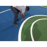 pintura de quadra poliesportiva
