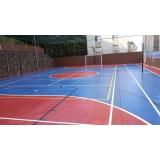 pintura epóxi quadras esportivas valor Cajamar