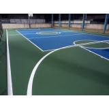 pintura epóxi quadras esportivas Ibirapuera