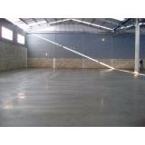 pisos de concreto branco Grajau