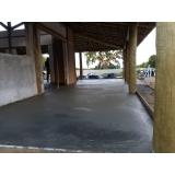 pisos de concreto com pedrisco Santa Efigênia