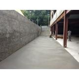 pisos de concreto estacionamento Parque do Carmo