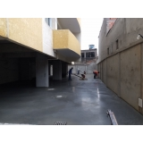 piso de concreto com fibra