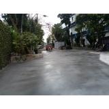 piso de concreto para área externa
