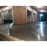 piso polido de concreto