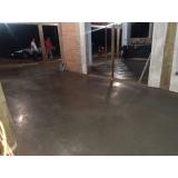 quanto custa piso de concreto com pedrisco Ibirapuera